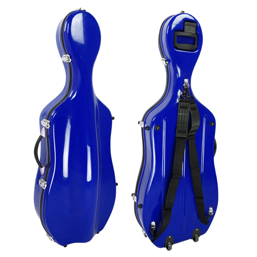 Cello Case - Kreisler Slim Blue
