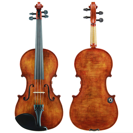 Electric-Acoustic Violin - Realist Violin Pro E-Series Frantique Finish 4 String with Wittner Pegs