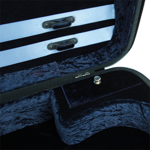 Double Case - Gewa Concerto for 2 Violins, Black/Blue