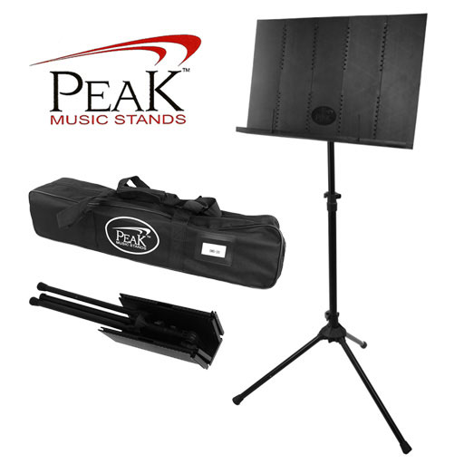 Collapsible Music Stand - Peak SMS20 Standard Height Steel Base