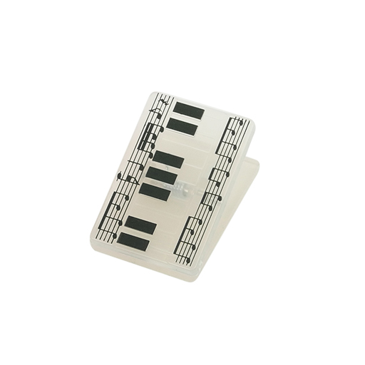 Paper Clip - Rectangular with Keyboard design. Clear