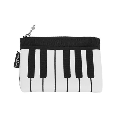 Coin purse - black with a white keyboard