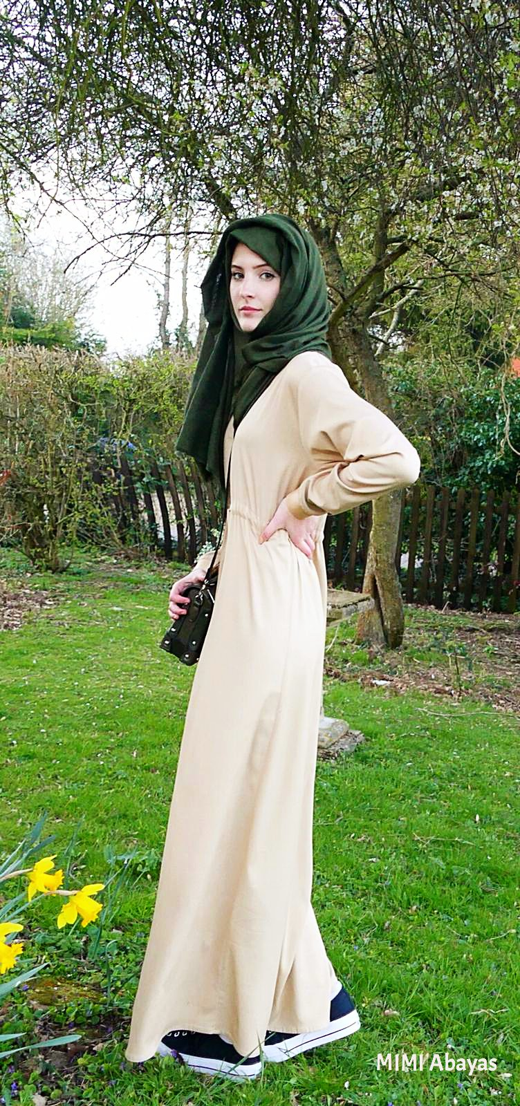 Maxi dress with sleeves. Long shirt dress. A Modest dress with sleeves.