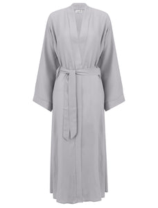 Light Grey Open Abaya