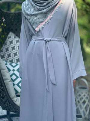 light grey abaya. Modest Fashion. Abaya uk. Hijab