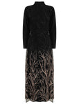 Fully lined evening dress. Maxi dress with long sleeves. A glamourous Abaya.