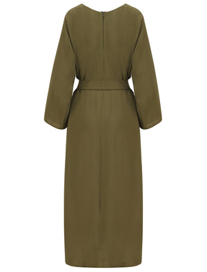 Khaki Closed Abaya