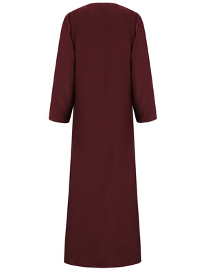 Abaya with wrap detail