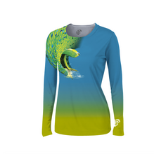 Solar Protection UPF 50+ Female Shirt  Splashing Mahi-Mahi
