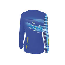Solar Protection Female Shirt UPF 50+ Wahoo Pattern