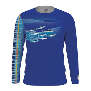 Solar Protection Men Shirt UPF 50+ Wahoo Pattern