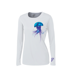 Solar Protection Female Shirt UPF 50+ PurpleJelly Fish