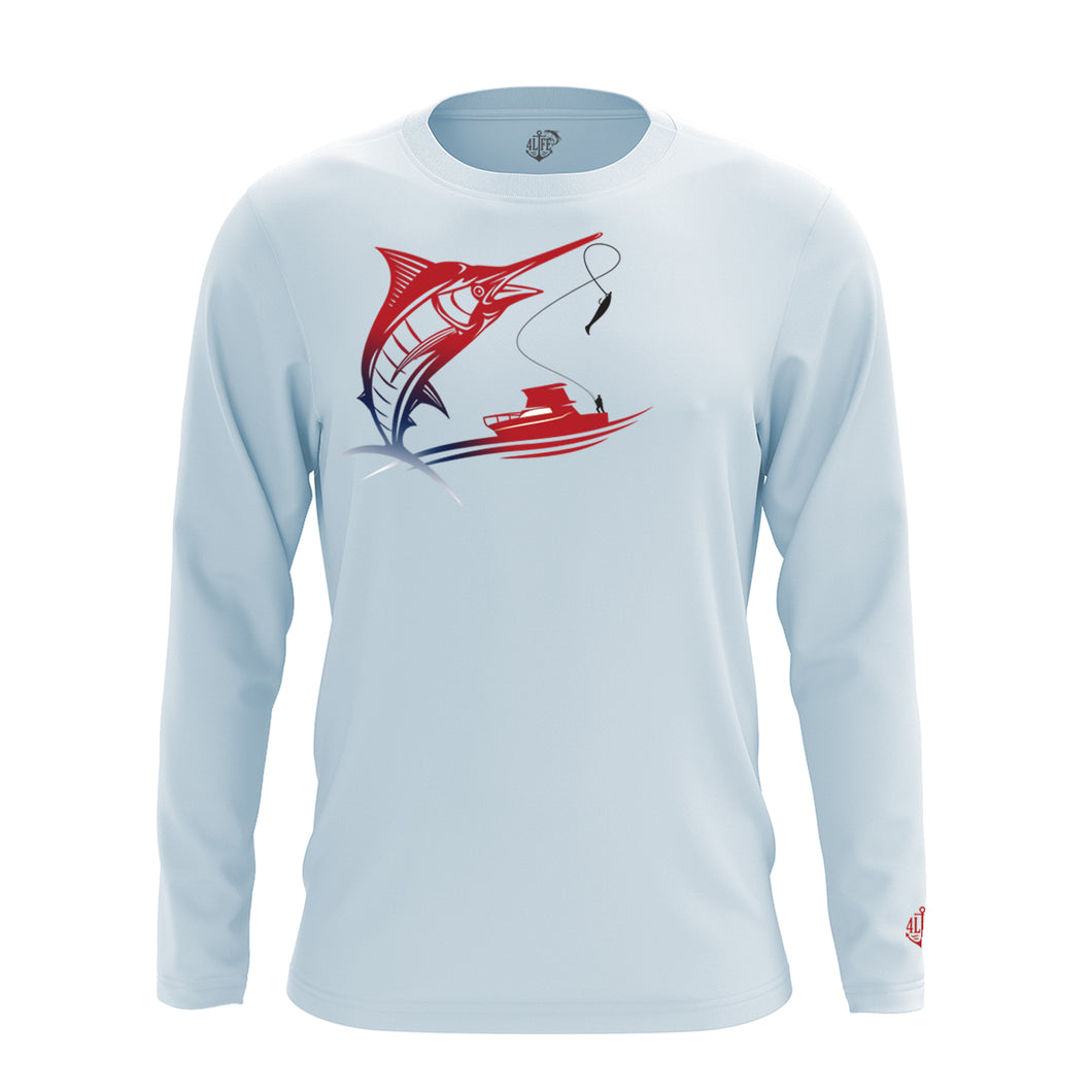 Long Sleeve Patriotic Marlin