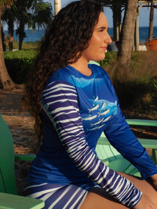 "Female ""Wahoo"" Fitted Long Sleeve"