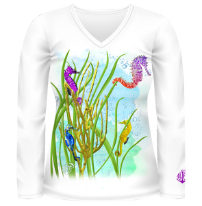Female Seahorse Fitted Long Sleeve