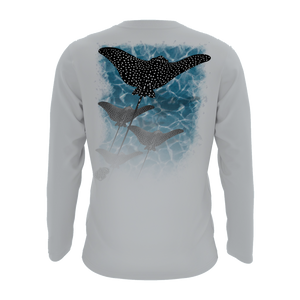 Solar Protection Men Shirt UPF 50+ Spotted Eagle Ray