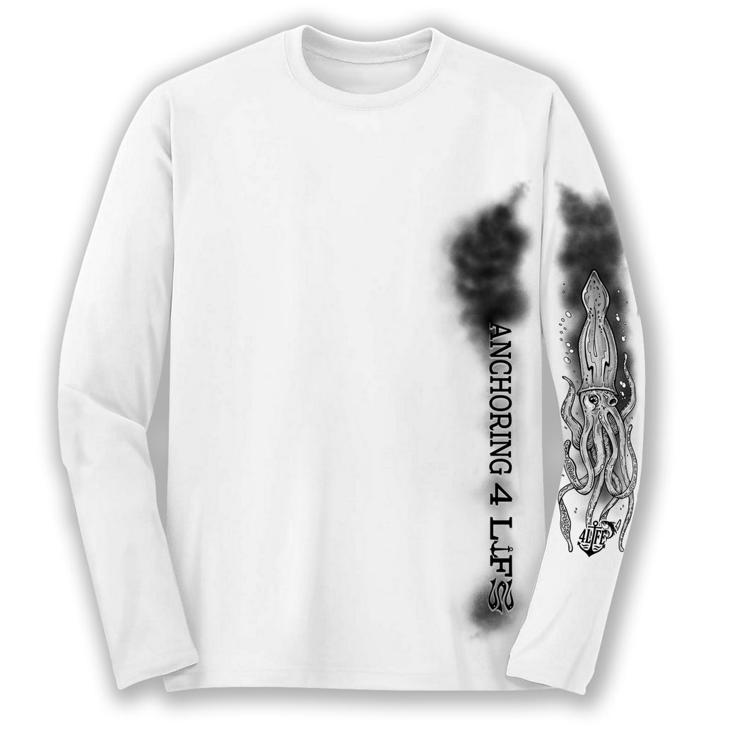 Black and White Squid Long Sleeve