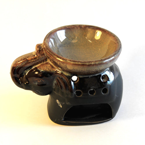 Elephant Oil Warmer - Brown