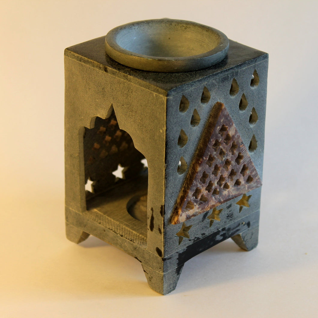 Mosaic Soapstone Oil Warmer