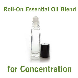 Roll-On Essential Oil Blend for Concentration