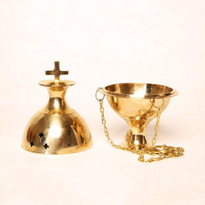Brass Incense Burner With Chain