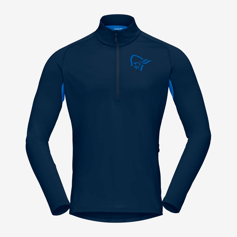 Norrona Fjora Equaliser LS Zip Top - Indigo Night / Olympia