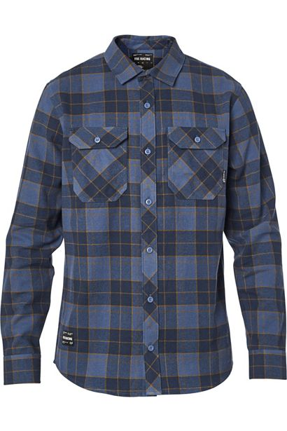 SALE - Fox Traildust 2.0 Flannel Shirt - Navy / Gold
