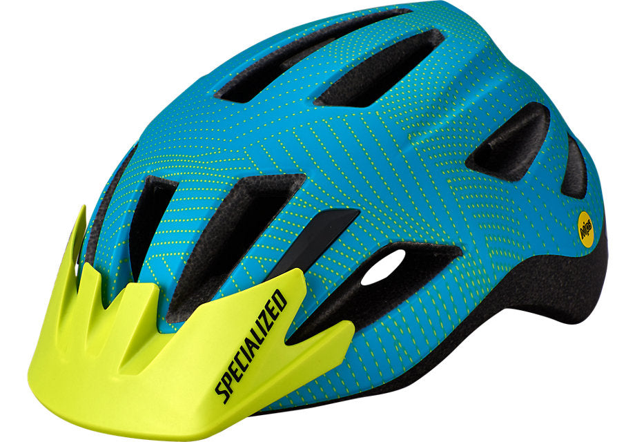 Specialized Shuffle Child LED MIPS Helmet Aqua / Hyper Green