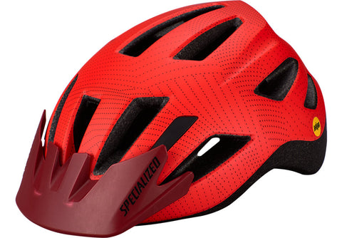 Specialized Shuffle Child LED MIPS Helmet Rocket Red / Crimson Dot Plane
