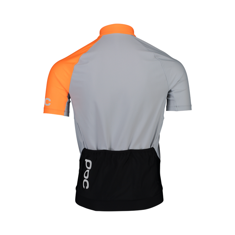 POC Essential Road Mid Jersey - Granite Grey / Zink Orange