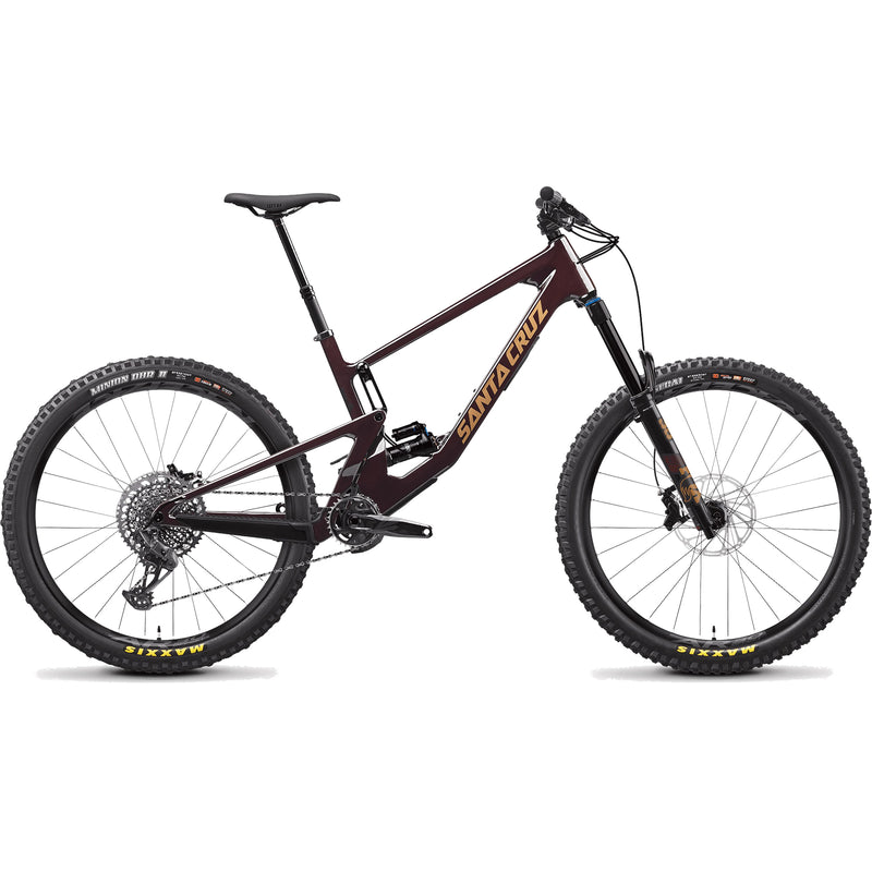 MY21 Santa Cruz Nomad Carbon C S Build - Super Deluxe Air - Oxblood / Tan