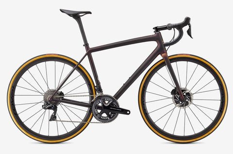Specialized Aethos S-Works Dura Ace Di2 - Satin Carbon / Red Gold