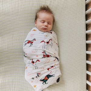 Swaddle Blanket - Howdy Horse