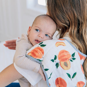 Baby Burp Cloth - Peachy