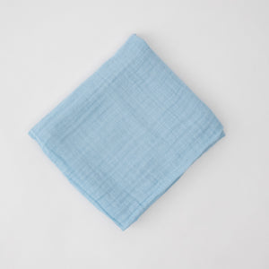 light blue single swaddle blanket