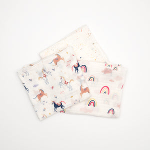 Swaddle Three Pack - Little Unicorns