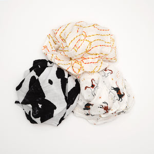 Swaddle Three Pack - Howdy Horse