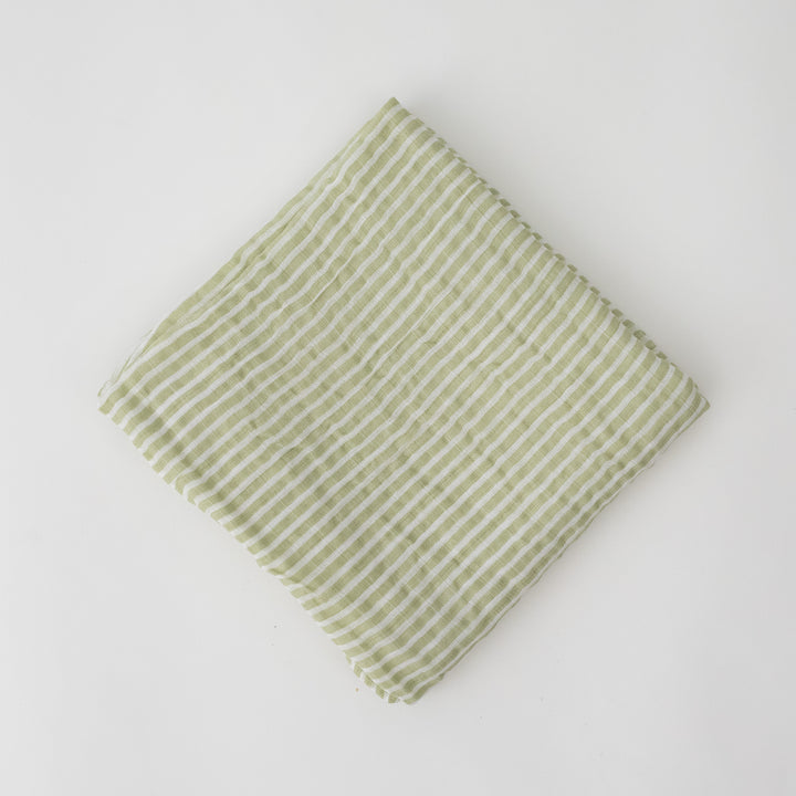 Single Blanket - Green Stripe