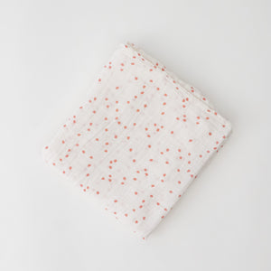 single swaddle blanket with pink cherry blossom petals