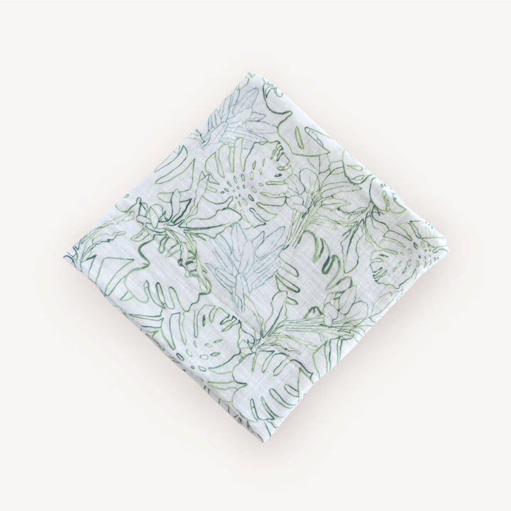 Swaddle Blanket - Jungle Leaf