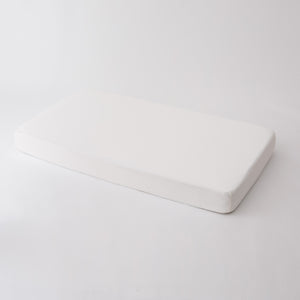 all white cotton muslin crib sheet