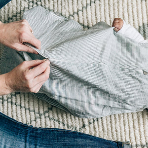 Sleep Bag - Grey Micro Stripe
