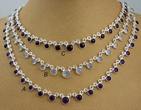 Simple elegant gemstone necklaces4