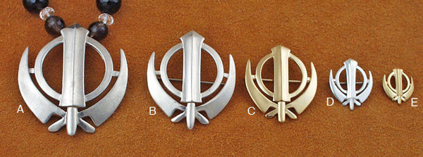 Simple adi shakti pin pendants