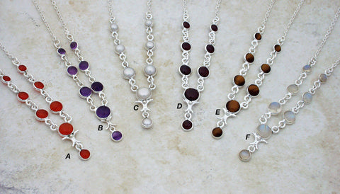 Simple, elegant, affordable gemstone necklaces