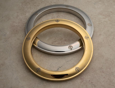 Heavyweight solid stainless steel Karas - some with gold tone