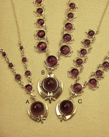 Amethyst adi shakti necklaces