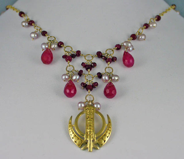 Ruby pearl adi shakti necklace2