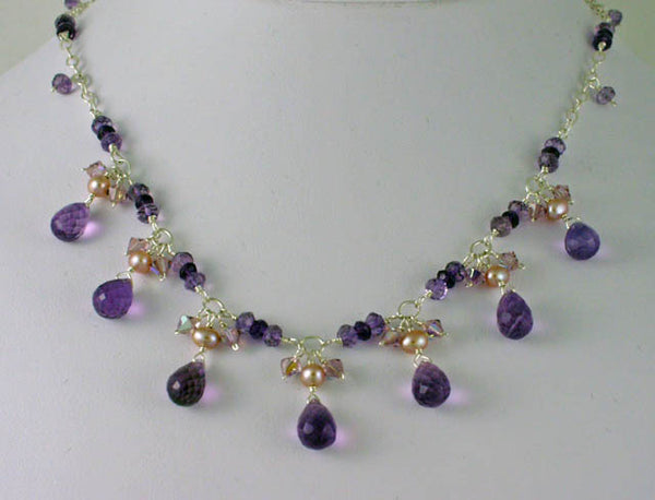 Pearl amethyst necklace