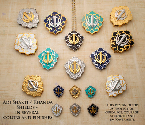 Adi Shakti / Khanda Shields with Varied Backgrounds